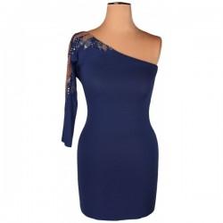 Topshop - Embellished Blue Bodycon Dress  Sz. 8