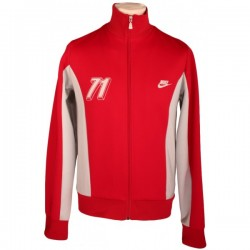 Nike - Vintage Retro Red Tracksuit Zip Top Sz. S