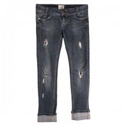 River Island - Live & Uncut Slim Slashed Jeans Sz. 10 R