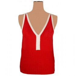 Precis Petite - Red V Neck Vest Top Sz. 12