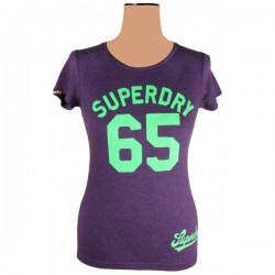Superdry - Purple Original 65 T-Shirt Top Sz. 10