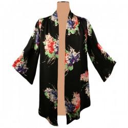 Next - Black Floral Kimono Top Sz. 6
