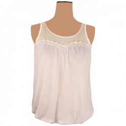 Miss Selfridge - White Lace & Ruffle Top Sz. 10