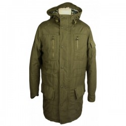 Levi's - Green Padded Hooded Parker Coat Sz. M