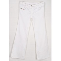 Diesel - Vixy White Stretchy Flared Jeans Sz. 10 R