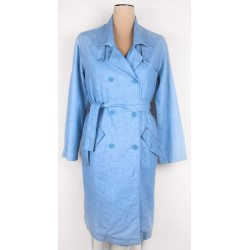 WRAP LONDON - Ellen Marine Lagenlook Trenchcoat Sz. 12