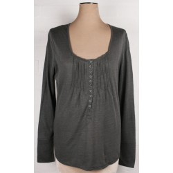 WRAP LONDON - Camille slate grey Lagenlook jersey top Sz. 16