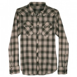All Saints - Sawtooth Pop Button Check Shirt  Sz. M