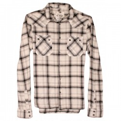 All Saints - Blunt Pop Button Check Shirt  Sz. M