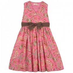Little Joules - Jr Croquet Perfect Pink Paisley Dress 4 yrs