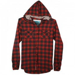 Seventh Seal - Hooded Red Check Shirt  Sz. M