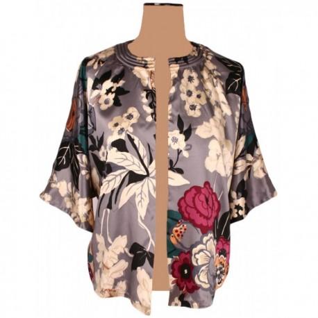 Joules - Boutique Calla Floral Silk Kimono Jacket Sz. 12 ...