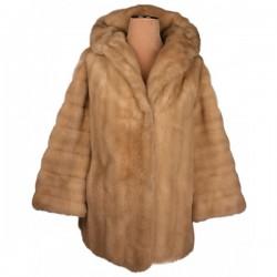 Tissavel - Vintage 1960's French Faux Fur Coat Sz. 16