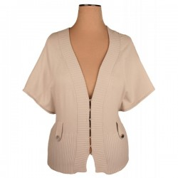 Karen Millen - Ribbed Cardigan Top  Sz. 8