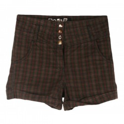 Baker & Brown - Designer Tartan High Waist Shorts  Sz. 12