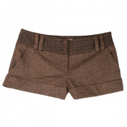 River Island - Wool Check Hotpants Shorts  Sz. 14