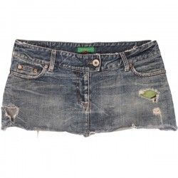 River Island - Distressed Denim Mini Skirt  Sz. 14