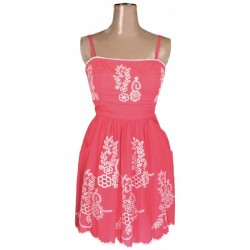 Monsoon - Fusion Strappy Coral Dress Sz. 14