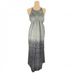 Monsoon - Tile Print Halter Maxi Dress  Sz. 16 - 18
