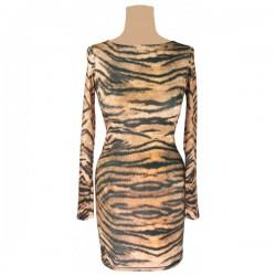 Topshop - Tiger Print Bodycon Dress  Sz. 8