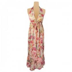 River Island - Hippy Floral Halter Maxi Dress Sz. 8