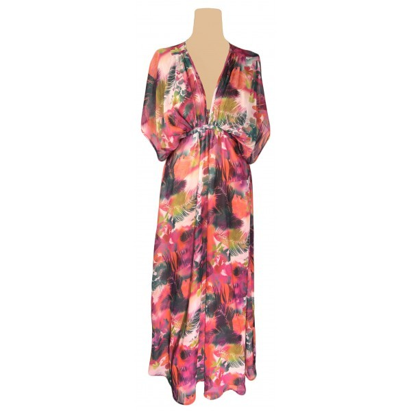 River island maxi dress in tropical print