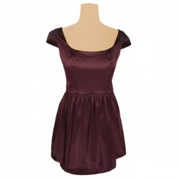 Topshop - Low Back Peplum Bow Dress Sz. 14